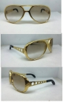 ALL METAL BUTTON AVIATORS GOLD