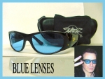 BONO BERLIN SUNGLASSES CUSTOM BLUE LENSES