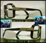 DMC GLASSES CAZAL BLACK ON GOLD RAPPER JAY Z 607